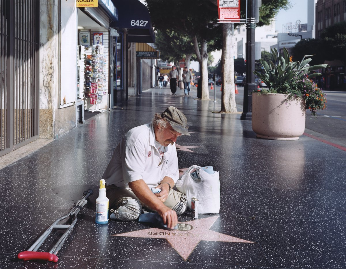 Legless Star Cleaner on the Hollywood Walk of Fame,