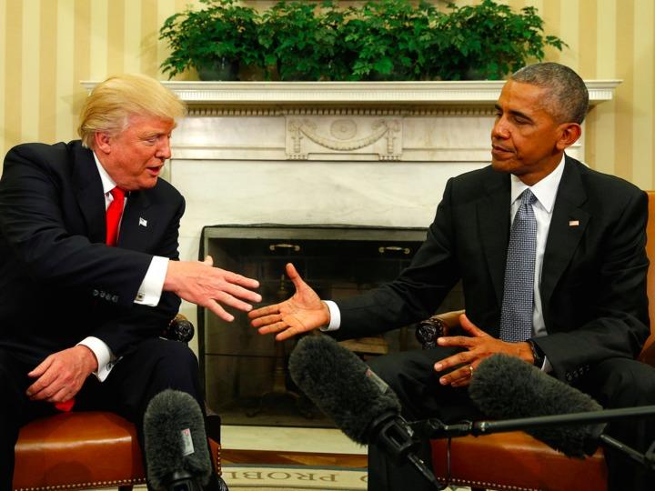 トランプ次期米大統領とオバマ大統領