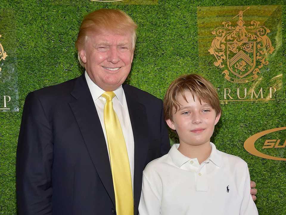 トランプ大統領と息子のバロン