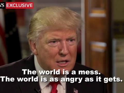 短い映像の中に垣間見えるトランプ大統領の驚くべき世界観