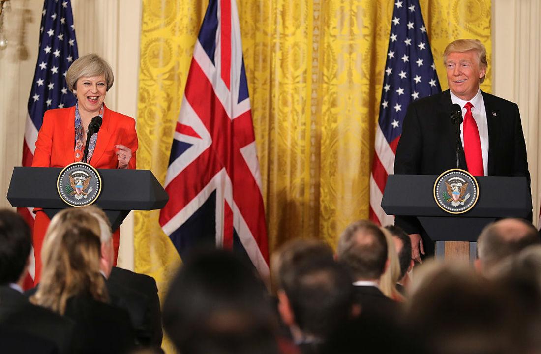 メイ首相とトランプ大統領