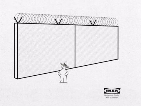 IKEA風「国境の壁」組み立て説明書