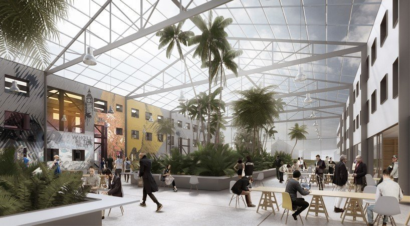 30-to-40-of-the-commune-will-be-shared-spaces-pictured-below-is-a-communal-dining-area-with-shared-kitchens-the-development-will-also-launch-a-car-sharing-service-and-shuttles-that-connect-to-heidelbergs-center