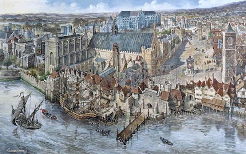 in-the-12th-century-the-english-royal-court-began-to-grow-in-size-and-sophistication-and-settled-in-westminster-a-neighborhood-in-central-london