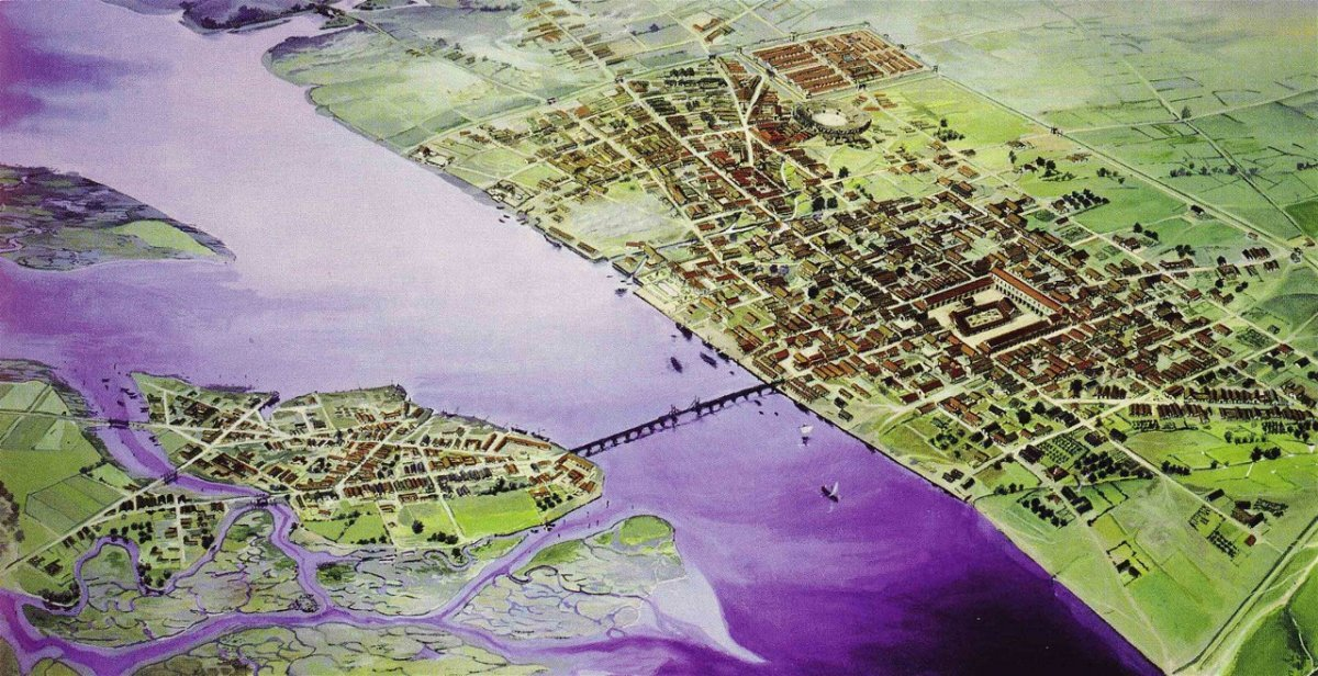 the-romans-founded-londinium-now-called-london-in-43-ad-this-artists-illustration-of-londinium-in-200-ad-shows-the-citys-first-bridge-over-the-thames-river