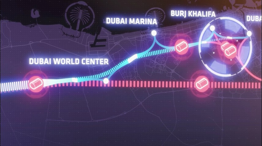 heres-a-conceptual-rendering-of-some-of-the-different-station-options-hyperloop-one-is-considering-for-the-transport-system-the-blue-line-indicates-a-route-taken-by-the-hyperloop-while-the-pink-line-shows-the-rou