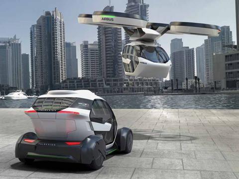 ドローンと合体して空を飛ぶコンセプトカー、エアバスが発表