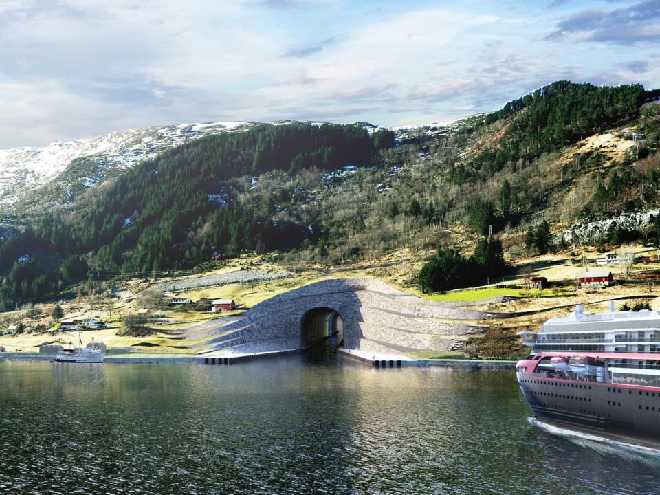 ノルウェーで建設が計画される船用トンネル