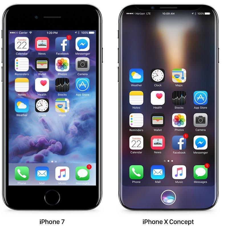 iPhone 7とiPhone X Concept