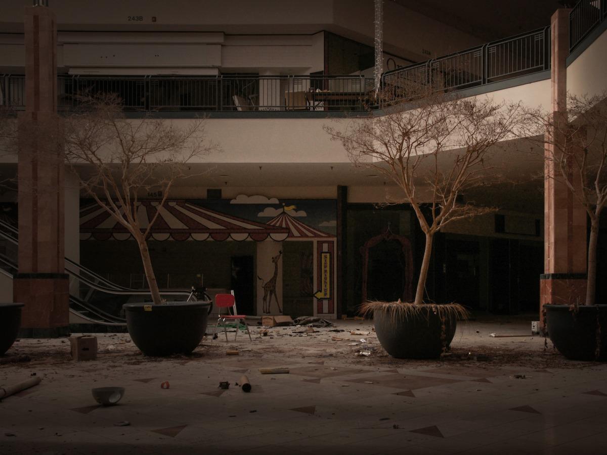 閉鎖されたショッピングモール