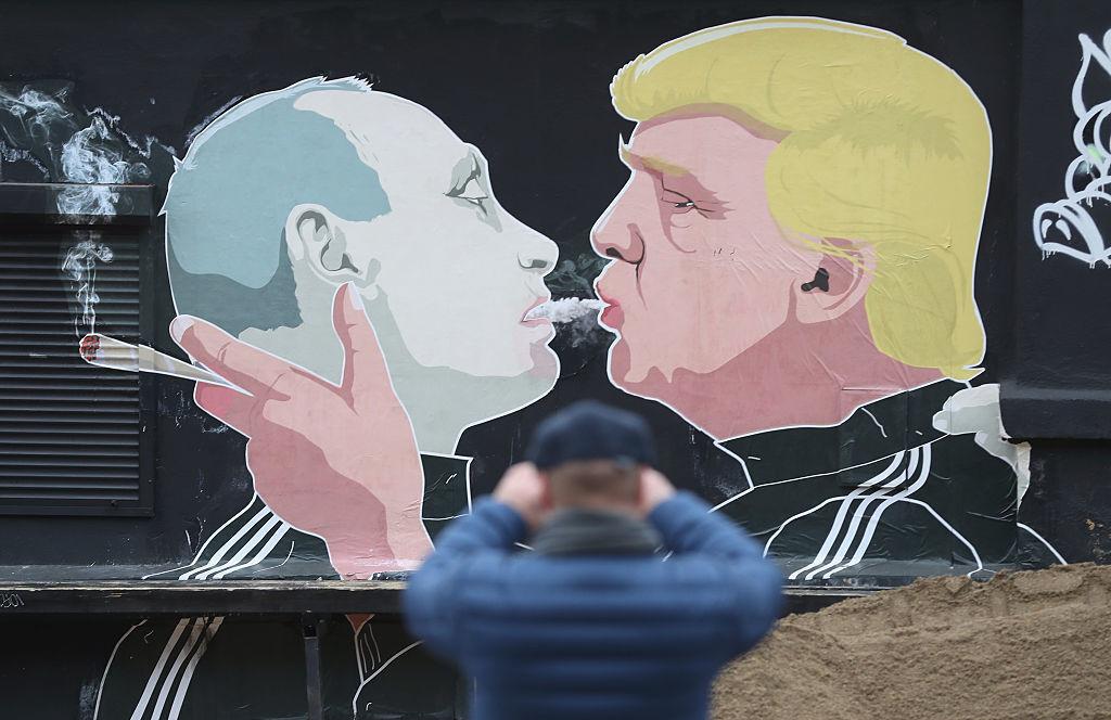 Mural Depicts Donald Trump And Vladimir Putin