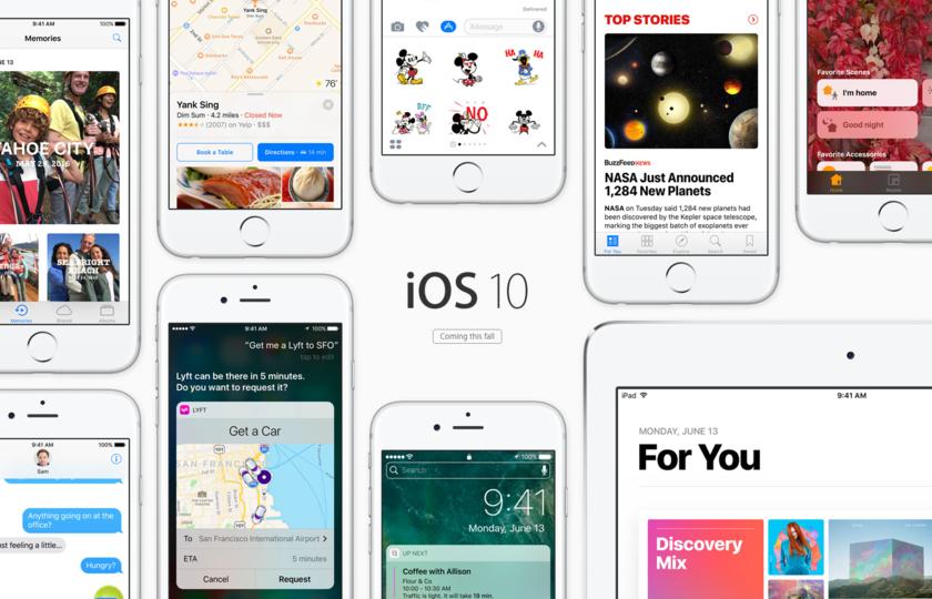iOS10のスクリーンショット