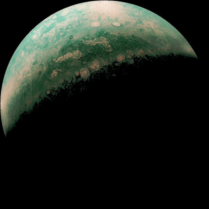 木星の北極