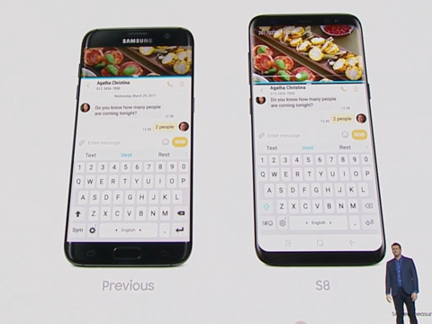 "Galaxy S8/S8+のスクリーンが""超""縦長である理由 ―― スクリーンの縦横比は18.5:9に"