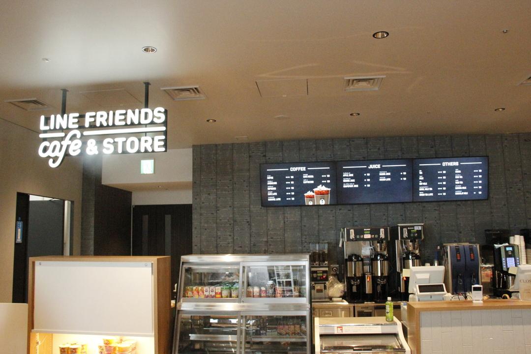 社内カフェのレジカウンター
