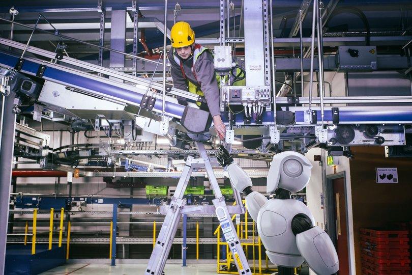 オンライン食料品小売企業Ocadoが開発を進めるロボットの想像図