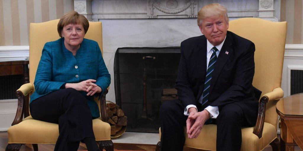 アンジェラ・メルケル ドイツ首相とトランプ大統領
