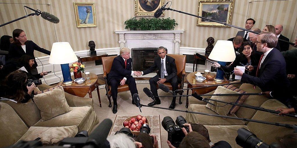 トランプ米大統領とオバマ前米大統領