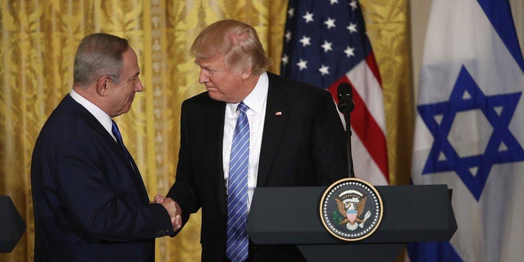 ベンジャミン・ネタニヤフ イスラエス首相とトランプ大統領