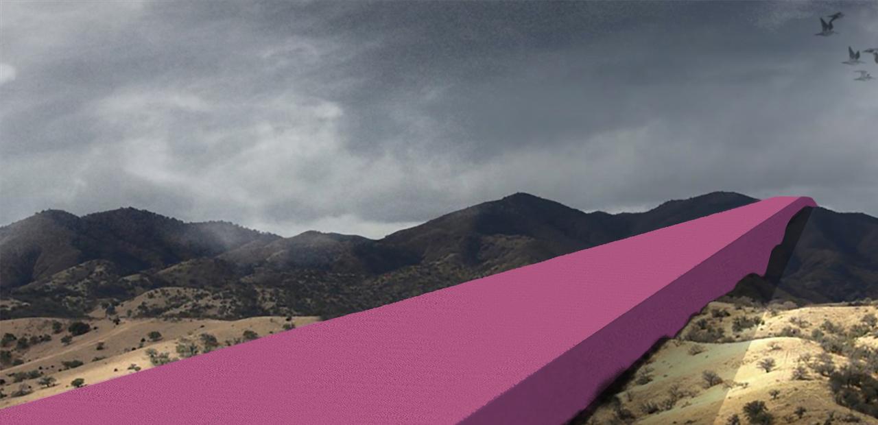 アメリカとメキシコの壁のデザイン図