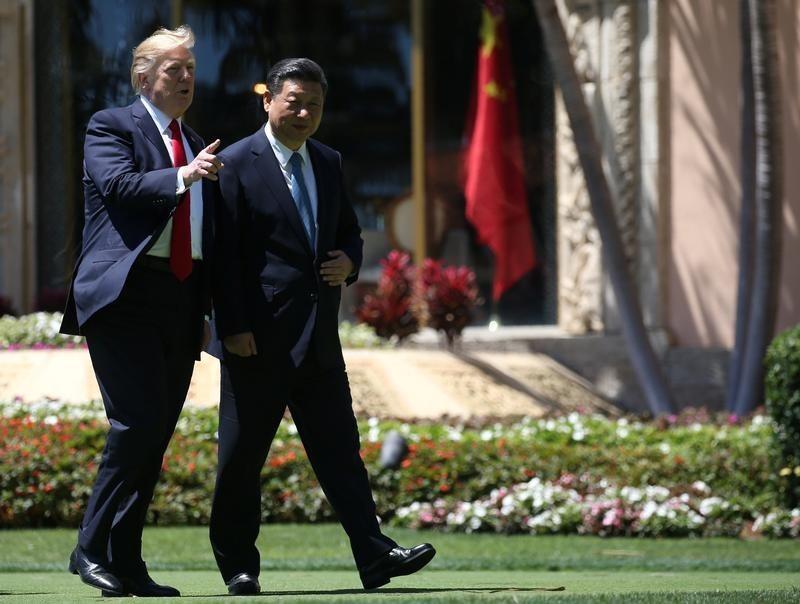 トランプ米大統領と習近平国家主席
