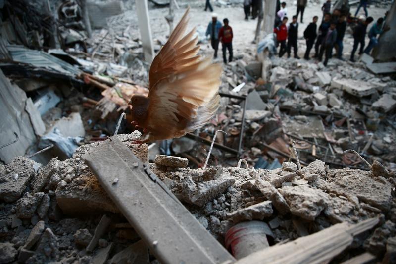 空爆されたシリアの惨状。