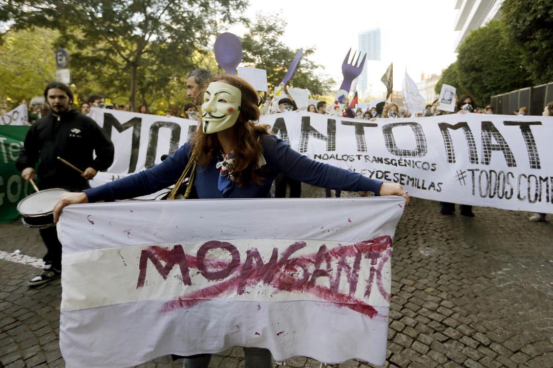 反モンサント抗議デモの様子