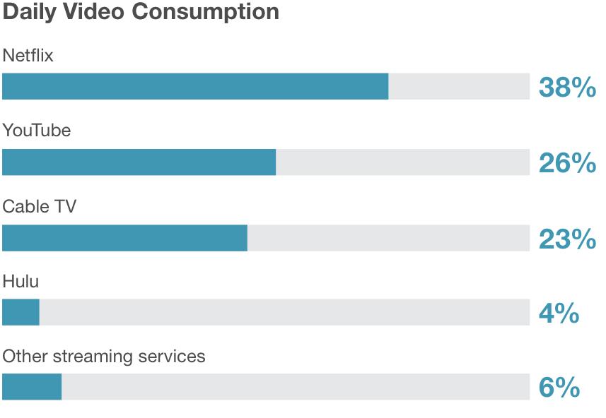 10代がビデオ視聴に使うブランド