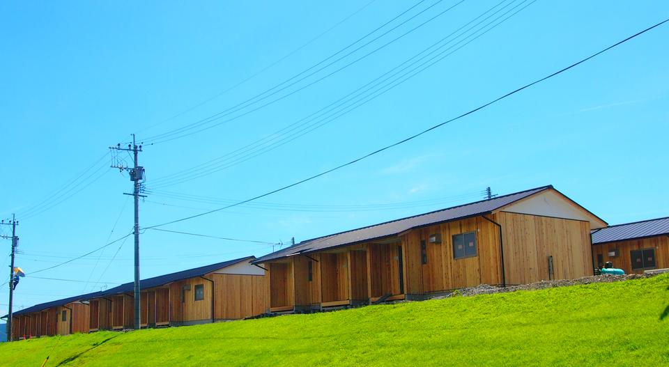 熊本地震で建てられた木造の仮設住宅