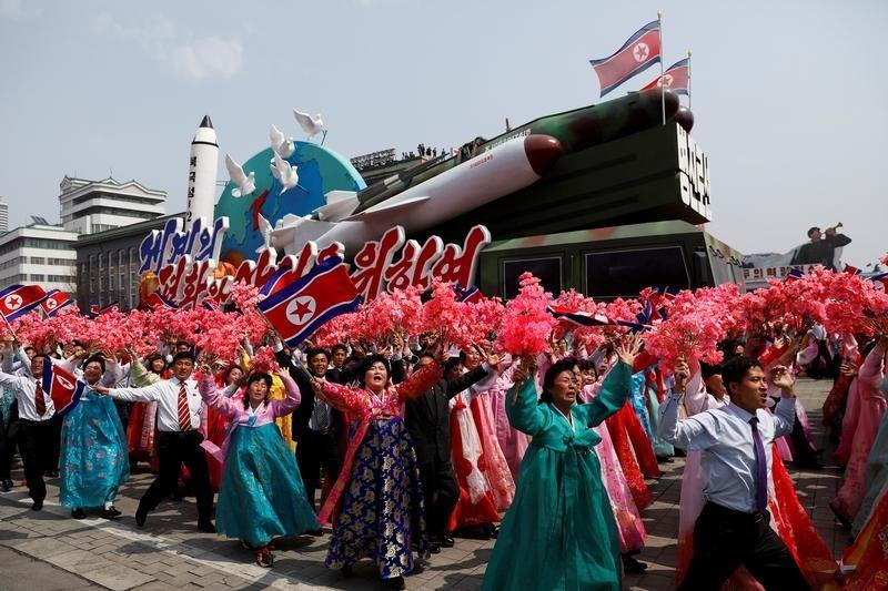 平壌で行われた軍事パレード