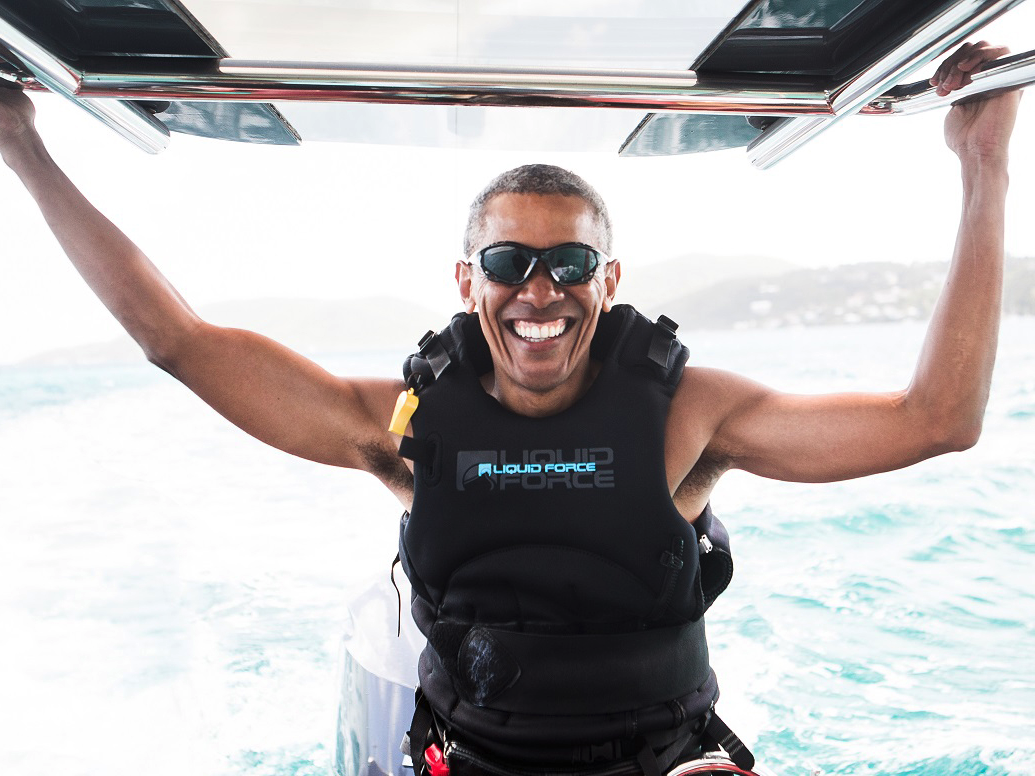 楽し気なオバマ