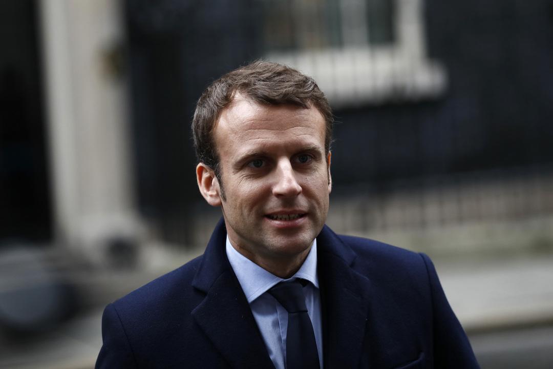 仏大統領選候補エマニュエル・マクロン氏
