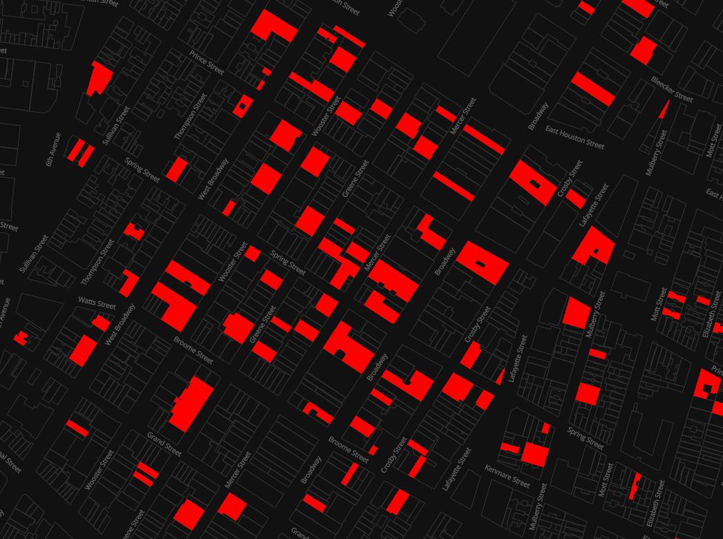 ソーホー地区の空室マップ