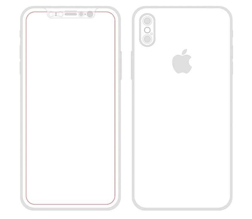 iPhone 8の図面