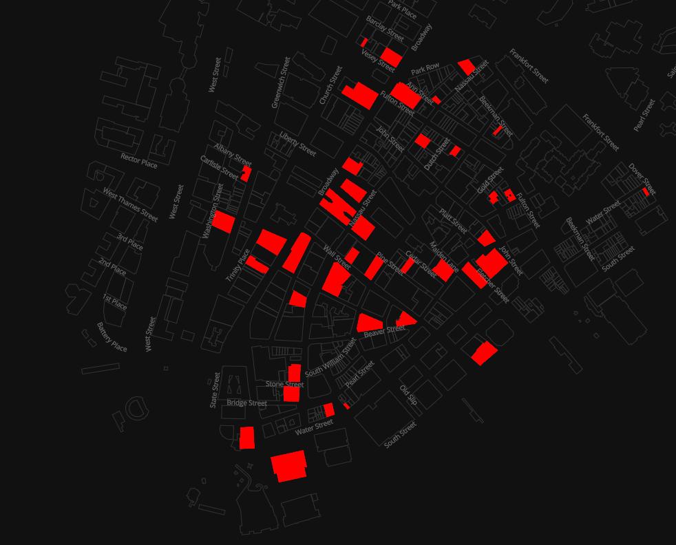 ファイナンシャル地区の空室マップ