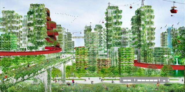 森林都市のイメージ