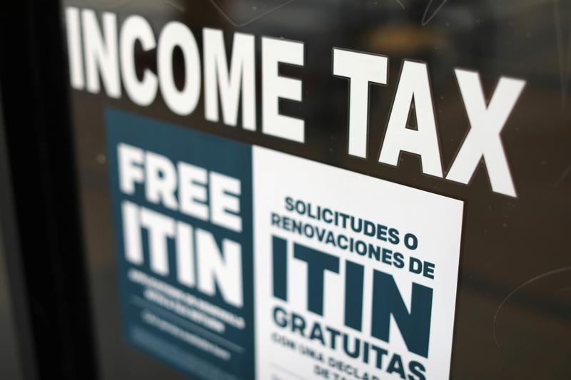 ロサンゼルスの税務署の看板