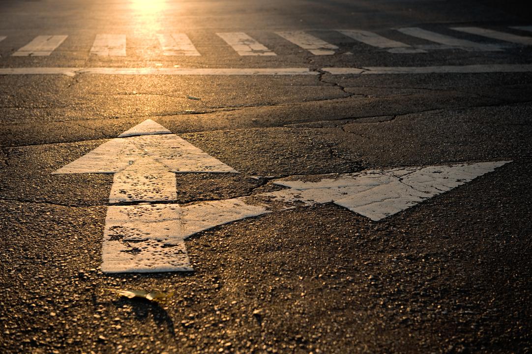 道路に描かれた矢印