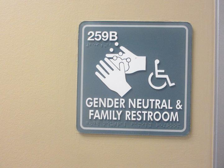 フロリダ州内にある大学にあったジェンダー中立なトイレ