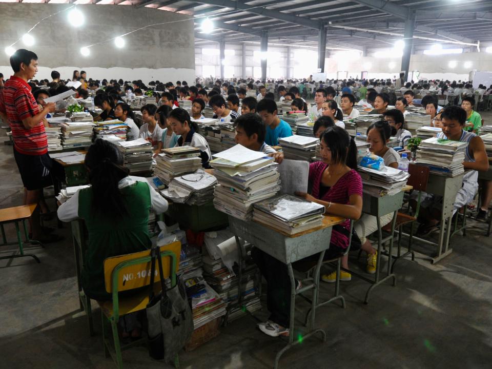 中国の中学生