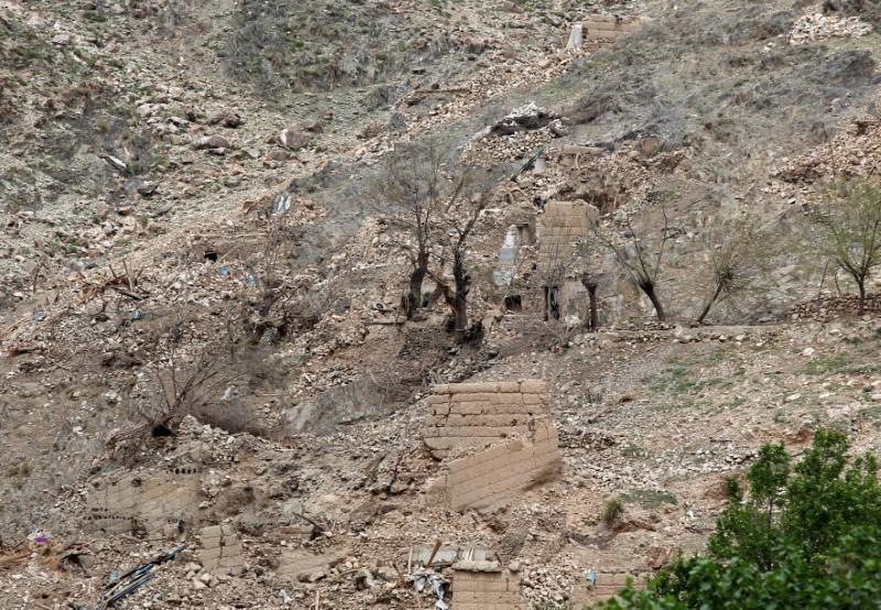 大規模爆風爆弾(MOAB)によって破壊されたアフガニスタン・ナンガハル州の様子