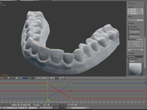 3Dプリンターの操作画面