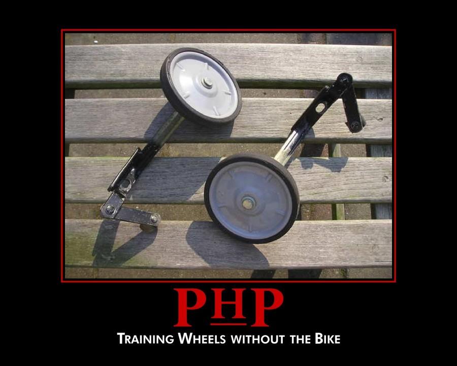 PHPに関するジョーク画像