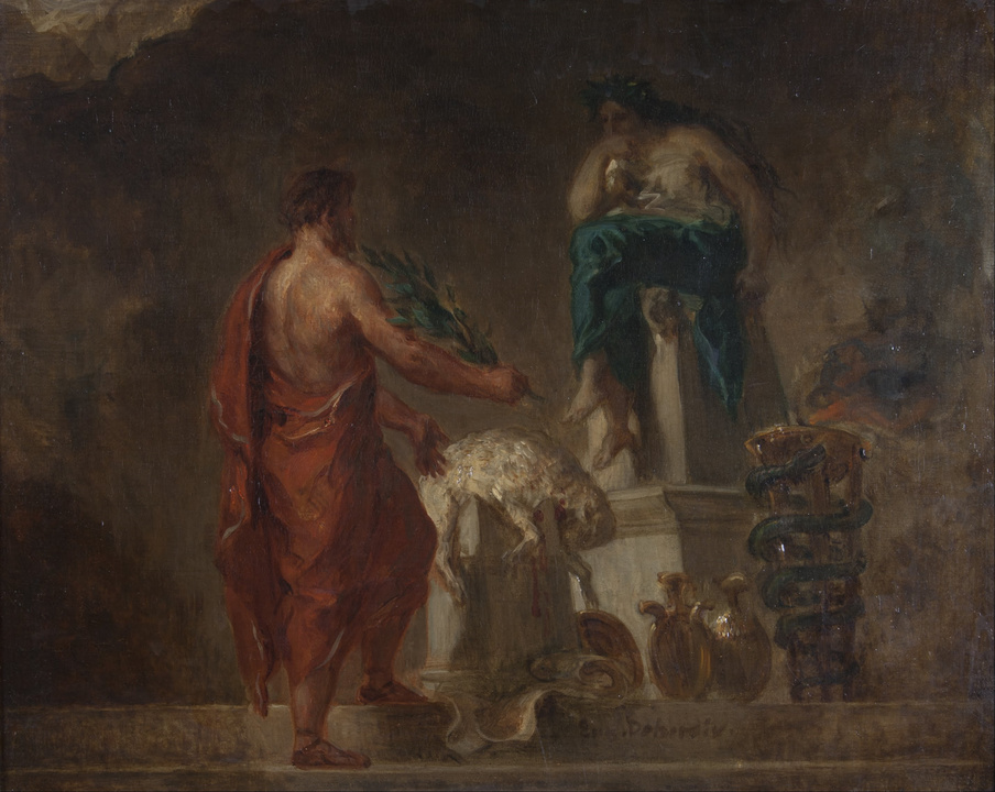 絵画『ピュティアに相談するリュクルゴス』