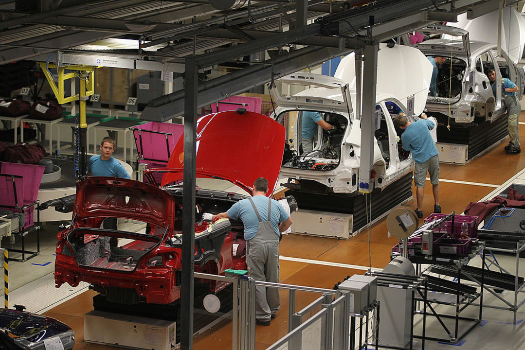 BMWの工場の写真