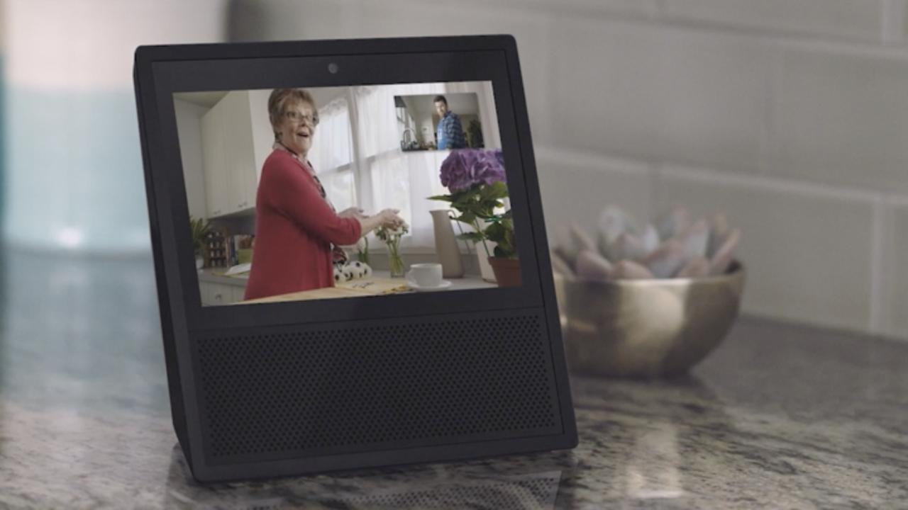 ビデオ通話中の「Amazon Echo Show」の画面