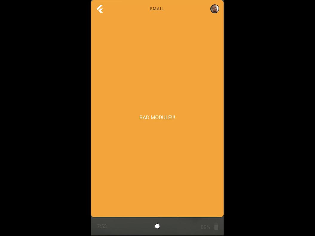 アプリ起動中の画面