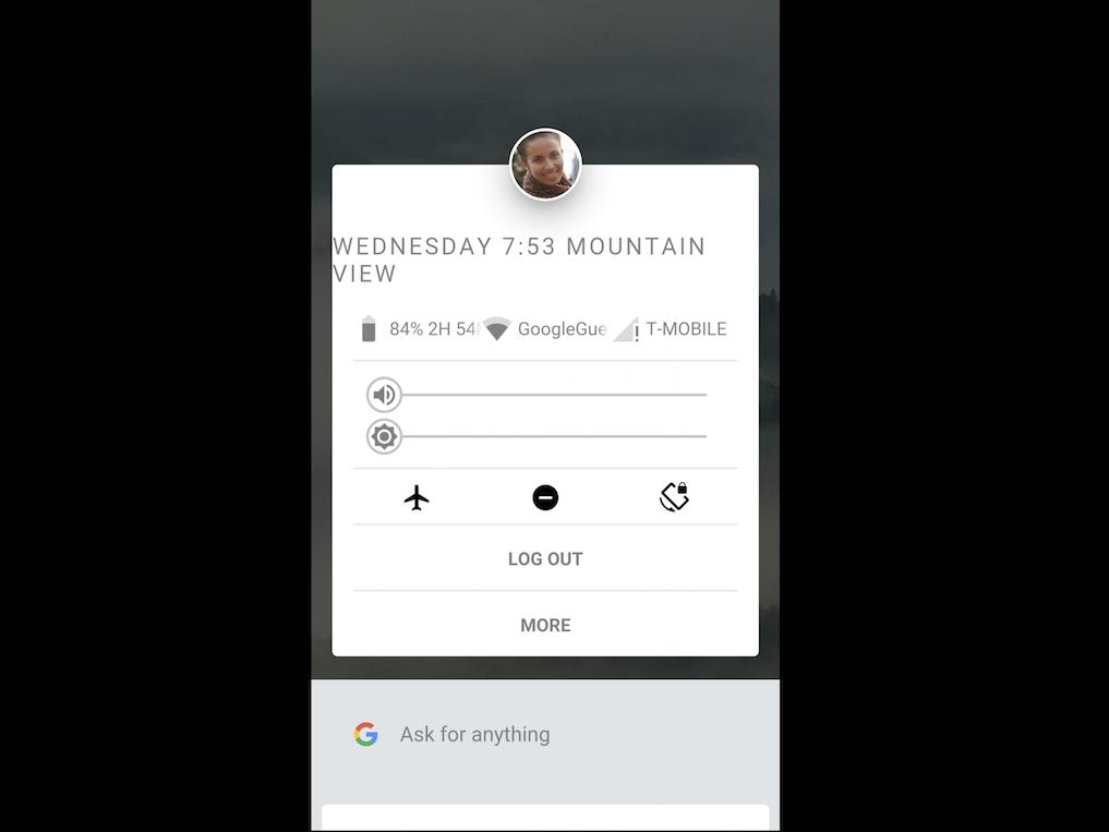 アプリと設定の画面例