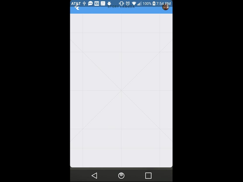 Androidの典型的な画面