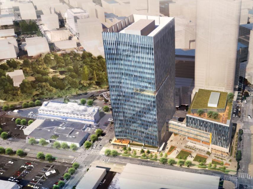 アマゾンの新しいオフィスビル完成予想図。